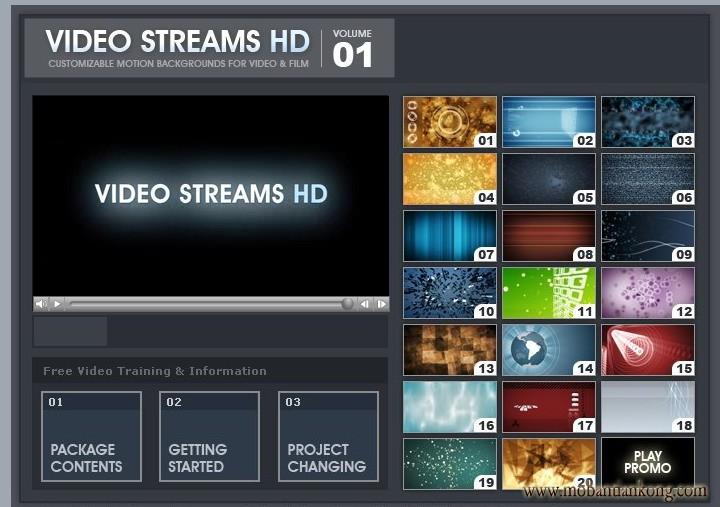 20个高清动态会声会影视频素材打包下载