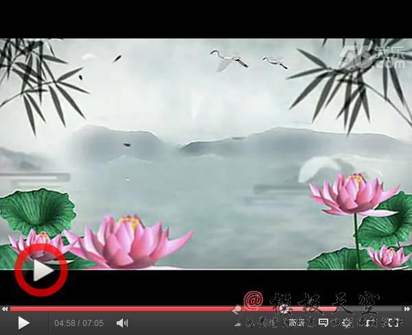 中国风 水墨荷花 led高清动态背景素材 vj素材 无水印